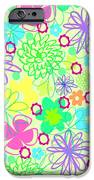 Graphic Flowers IPhone Case by Louisa Knight