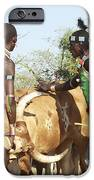 Hamer Tribe Jumping Of The Bulls Ceremony IPhone Case by Photostock-israel