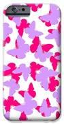 Layered Butterflies  IPhone Case by Louisa Knight