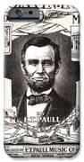 Lincoln Centennial, C1909 IPhone Case by Granger