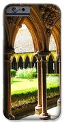 Mont Saint Michel Cloister IPhone Case by Elena Elisseeva