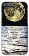 Moon Over The Sea, Composite Image IPhone Case by Victor De Schwanberg