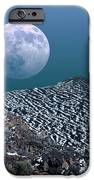 Moon-rise Over A Volcano IPhone Case by Detlev Van Ravenswaay