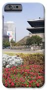 Namdaemun Gate With Flowers In Foreground IPhone Case by Jeremy Woodhouse