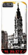 Philadelphia Poster IPhone Case by Bill Cannon