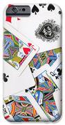 Pile Of Playing Cards IPhone Case by Wingsdomain Art and Photography
