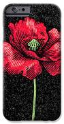 Poppy Flower, Woodcut IPhone Case by Gary Hincks