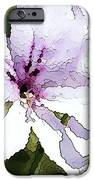 Purple Geranium IPhone Case by Artist and Photographer Laura Wrede