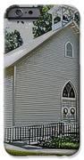 Quaker Church Pencil IPhone Case by Scott Hervieux