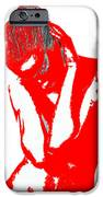 Red Drama IPhone Case by Naxart Studio