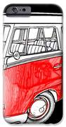 Red Volkswagen IPhone Case by Cheryl Young