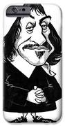 Rene Descartes, Caricature IPhone Case by Gary Brown