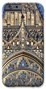 Rose Window - Exterior Of St Vitus Cathedral Prague Castle IPhone Case by Christine Till