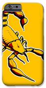 Scorpion Graphic  IPhone Case by Pixel Chimp