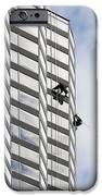 Skyscraper Window-washers - Take A Walk In The Clouds IPhone Case by Christine Till