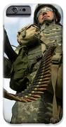 Soldier Mans A Vehicle Mounted 7.62 Mm IPhone Case by Stocktrek Images