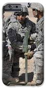 Soldiers Discuss A Strategic Plane IPhone Case by Stocktrek Images