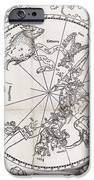 Southern Hemisphere Star Chart, 1537 IPhone Case by Middle Temple Library