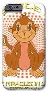 Spunky The Monkey IPhone Case by John Keaton