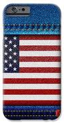 Stars And Stripes Denim IPhone Case by Jane Rix