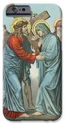 Station Iv Jesus Carrying The Cross Meets His Most Afflicted Mother IPhone Case by English School