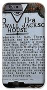 Stonewall Jackson House IPhone Case by Todd Hostetter