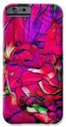 Swirly Fabric Flower IPhone Case by Judi Bagwell