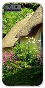 Thatched Cottage With Pink Flowers IPhone Case by Carla Parris