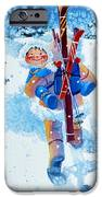 The Aerial Skier - 3 IPhone Case by Hanne Lore Koehler