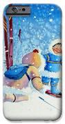 The Aerial Skier - 5 IPhone Case by Hanne Lore Koehler