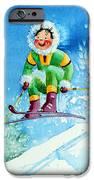 The Aerial Skier - 9 IPhone Case by Hanne Lore Koehler