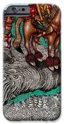 The Beast And Nahamanides In Shitaki Forest IPhone Case by Al Goldfarb