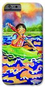 The Kayak Racer 12 IPhone Case by Hanne Lore Koehler