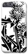 Thistle, Lino Print IPhone Case by Gary Hincks