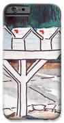 Three Mailboxes Sketchbook Project Down My Street IPhone Case by Irina Sztukowski