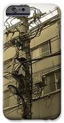 Tokyo Electric Pole IPhone Case by Naxart Studio