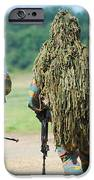 Two Snipers Of The Belgian Army Dressed IPhone Case by Luc De Jaeger
