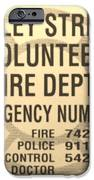 Vallet Stream Fire Department In Sepia IPhone Case by Rob Hans