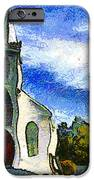 Van Gogh.s Church On The Hill 7d12437 IPhone Case by Wingsdomain Art and Photography