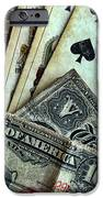Vintage Playing Cards And Cash IPhone Case by Jill Battaglia