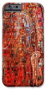 Warm Meets Cool - Abstract Art IPhone Case by Carol Groenen
