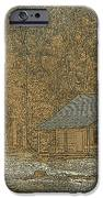 Woodcut Cabin IPhone Case by Jim Finch