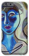 092 - Blue Lady  IPhone Case by Irmgard Schoendorf Welch