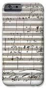 Beethoven Manuscript IPhone Case by Granger