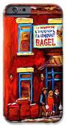 Fairmount Bagel In Winter IPhone Case by Carole Spandau
