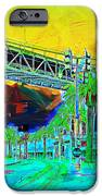 San Francisco Embarcadero And The Bay Bridge IPhone Case by Wingsdomain Art and Photography