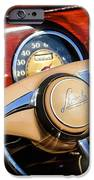1941 Lincoln Continental Cabriolet V12 Steering Wheel IPhone Case by Jill Reger