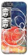 Abstract Buddha IPhone Case by Linda Woods