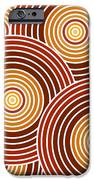 Abstract Circles IPhone Case by Frank Tschakert
