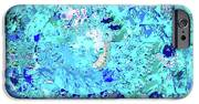 Abstract in blue no 56 2 iphone 6s case by sandy taylor